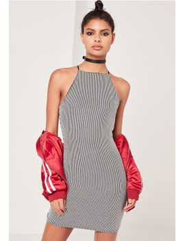 metallic-rib-bodycon-dress-silver by missguided