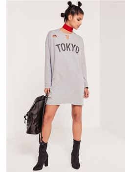 ripped-tokyo-oversized-jumper-dress-grey by missguided