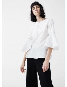 ruffle-cotton-blouse by mango