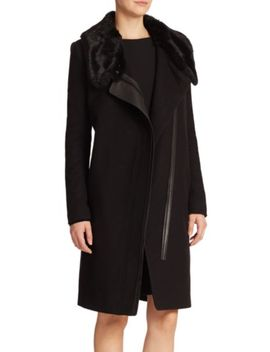 angie-faux-fur-&-wool-blend-coat by vera-wang