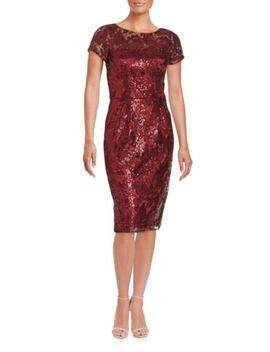 sequined-draped-back-dress by badgley-mischka