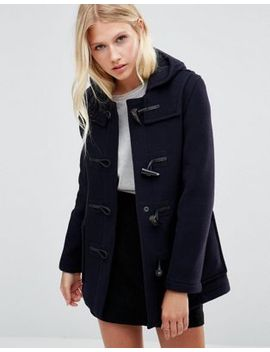 gloverall-mid-slim-duffle-coat-in-navy by gloverall