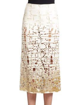woven-pencil-skirt by donna-karan
