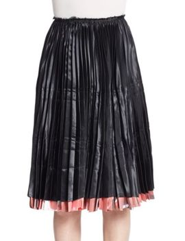 abstract-printed-pleated-skirt by vince
