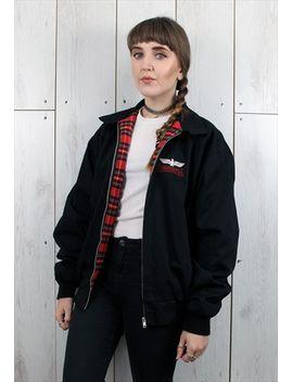 vintage-black-punk-skin-head-original-harrington-jacket by no-brand-name