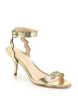 elyse-metallic-snake-embossed-leather-peep-toe-ankle-wrap-sandals by loeffler-randall