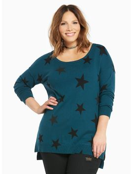 star-print-tunic-sweater by torrid