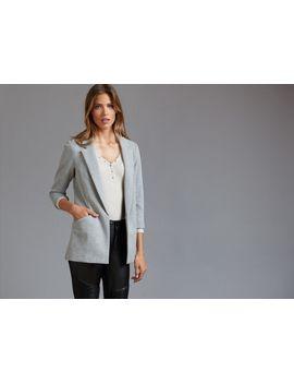 open-front-knit-boyfriend-blazer by dynamite