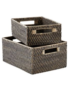 blackwash-rattan-storage-bins-with-handles by container-store