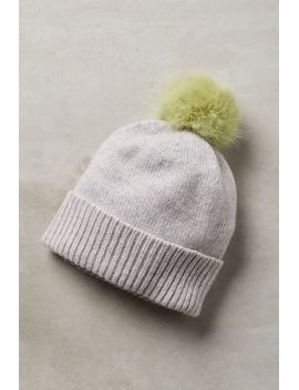 pommed-cashmere-beanie by anthropologie