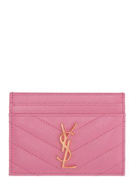 pink-monogram-card-holder by saint-laurent