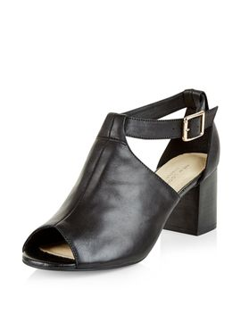 black-comfort-leather-cut-out-peep-toe-boots by new-look