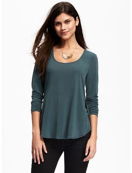 relaxed-tulip-hem-tee-for-women by old-navy