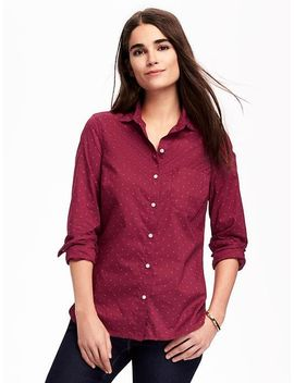 pin-dot-classic-shirt-for-women by old-navy