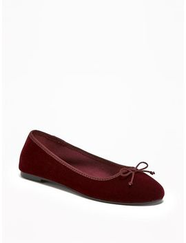 velvet-ballet-flats-for-women by old-navy