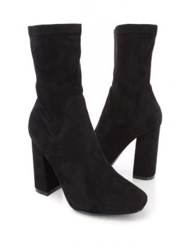 black-pointy-toe-single-sole-chunky-heel-faux-suede by ami-clubwear