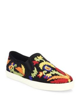 ava-embroidered-suede-skate-sneakers by alice-+-olivia