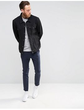 levis-black-denim-trucker-jacket by levis