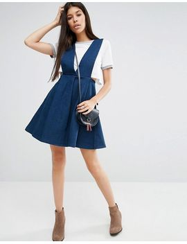 goldie-take-me-away-denim-pinafore-dress by goldie