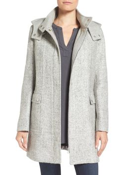 hooded-bouclé-coat by kenneth-cole-new-york