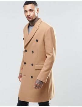 asos-wool-mix-double-breasted-overcoat-in-camel by asos