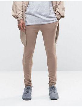 asos-super-skinny-joggers-in-beige by asos