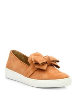 val-suede-bow-skate-sneakers by michael-kors-collection