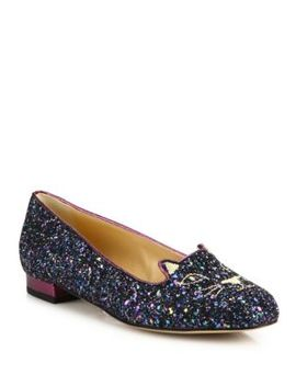 glitter-kitty-flats by charlotte-olympia