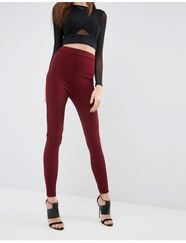 asos-leggings-with-rib-panels by asos-collection
