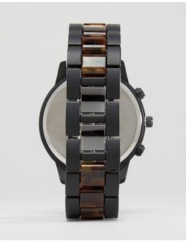 asos-bracelet-watch-with-contrast-tort-bezel by asos