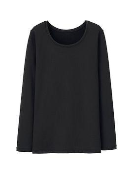 heattech-women-ultra-warm-crew-neck-t-shirt by uniqlo