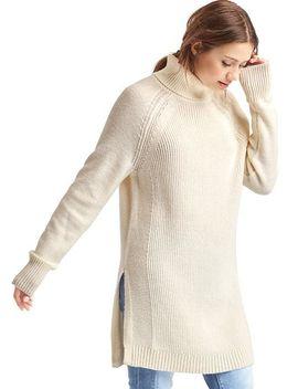 merino-wool-blend-tunic-sweater by gap