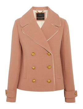 tipped-satin-trimmed-wool-blend-crepe-jacket by jcrew
