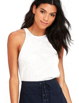 lucy-love-charlie-white-embroidered-tank-top by lucy-love