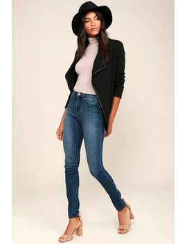 dittos-kelly-medium-wash-high-waisted-skinny-jeans by dittos
