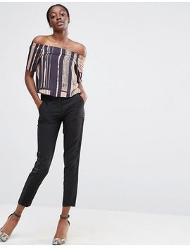 asos-off-shoulder-top-in-abstract-stripe by asos-collection