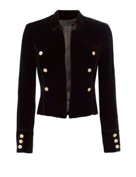 gardot-velvet-blazer by exclusive-for-intermix