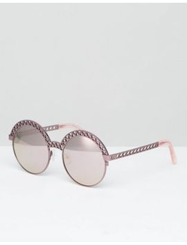 house-of-holland-round-flat-lens-sunglasses-in-pink by house-of-holland
