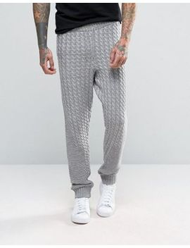 asos-knitted-joggers-with-chunky-cable-and-rib-detail by asos
