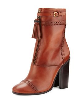 huxley-tassel-95mm-bootie,-runway-almond by tory-burch