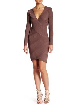 ribbed-faux-wrap-dress by astr-the-label