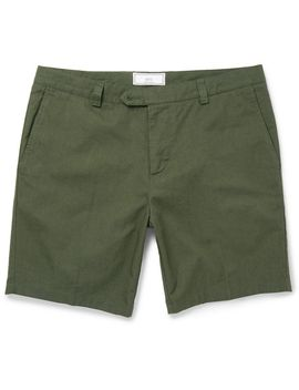 slim-fit-cotton-gabardine-shorts by ami