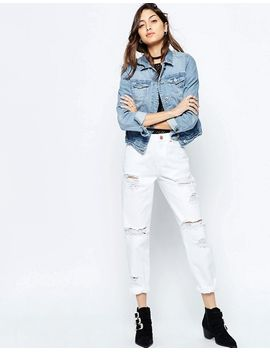 asos-petite-original-mom-jeans-in-white-with-extreme-rips by asos-collection