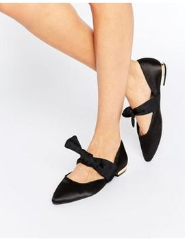 asos-loveable-pointed-bow-ballet-flats by asos-collection