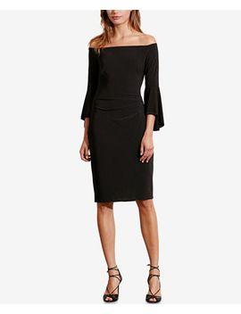 off-the-shoulder-sheath-dress by lauren-ralph-lauren