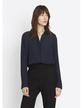 collared-concealed-placket-shirt by vince