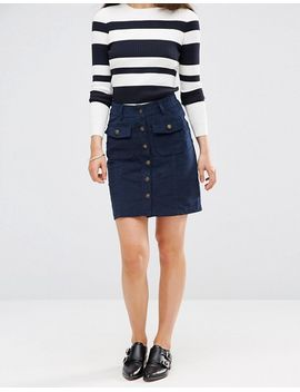 brave-soul-buttoned-cord-skirt by skirt