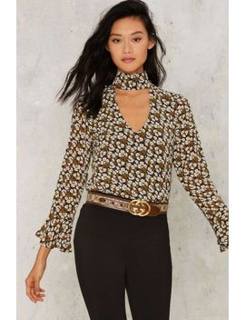 shoshanna-cut-out-blouse by nasty-gal
