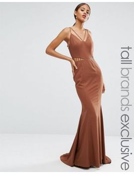jarlo-tall-strappy-maxi-dress-with-waist-cutout-detail by jarlo