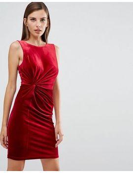 yas-daisy-velvet-bodycon-dress by yas